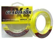 Плетеная леска Gladiator 135m WX4 Yellow 0.40