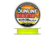 Плетеная леска Sunline Momentum 4x4 (8жил) Fluo Yellow #2,5