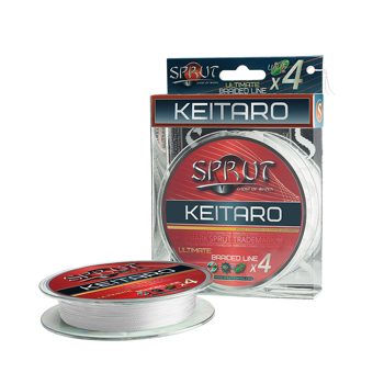 "Шнур ""Sprut"" KEITARO Ultra Light Braided Line x4 (95m/Crystal White/0,06mm/4,95kg)"
