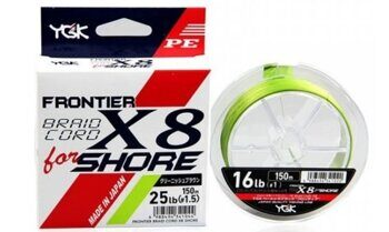Плетенка YGK FRONTIER BRAID CORD X8 SHORE 150м #2