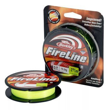 Плетёная леска Berkley FireLine Flame Green 110m 0,10