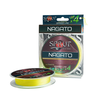 "Шнур ""Sprut"" NAGATO Hard Ultimate Braided Line x4 ( 95m/Fluo Yellow/0,12mm/9,1kg)"