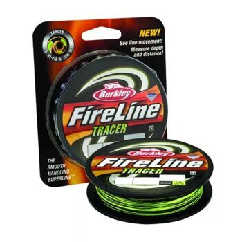 Плетёная леска Berkley FireLine Tracer Smoke/Flame Green 110m 0,12
