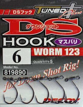 Крючки  DECOY  DS Hook Worm 123 №6